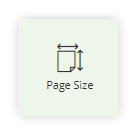 Setting the page size of your design document