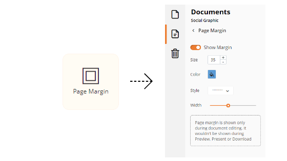 Adjusting the page margins of your design document.