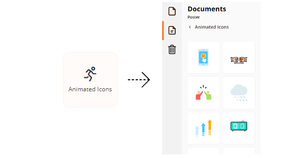Adding animated icons to your design
