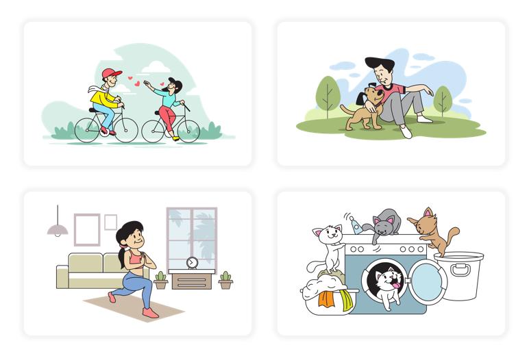Scene Illustrations in DocHipo