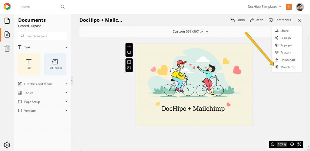 DocHipo Integration with Mailchimp