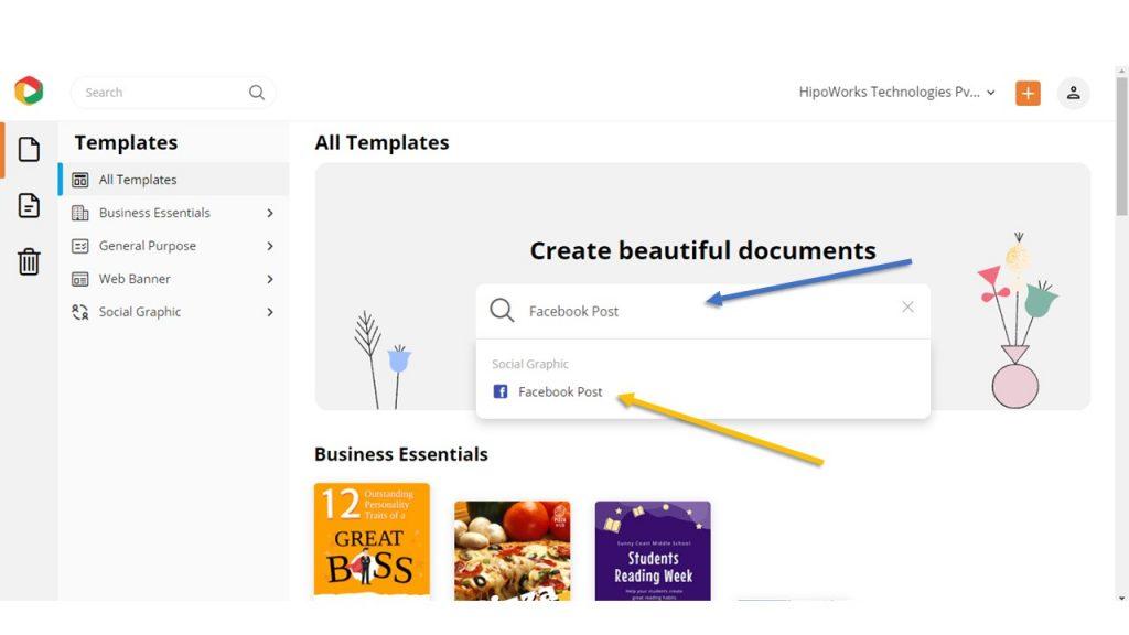 Facebook post design template