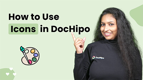 How to Use Icons in DocHipo