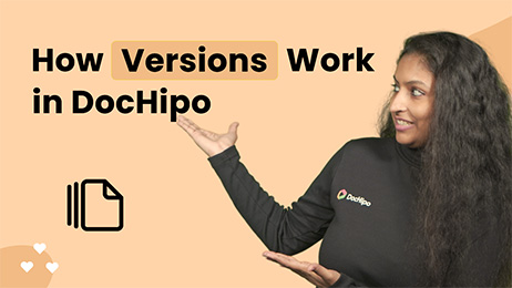 How Versions Work in DocHipo