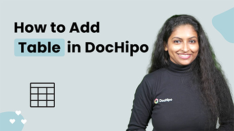 How to Add Table in DocHipo