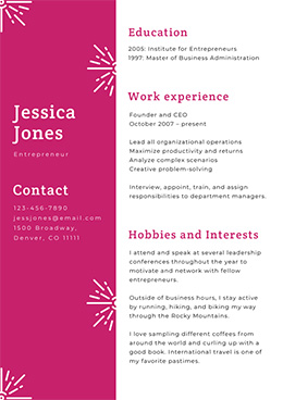 business-resume-template