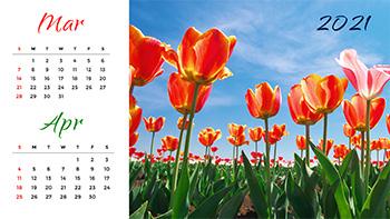 nature-calendar-template