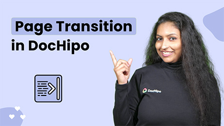 How Page Transition Works in DocHipo