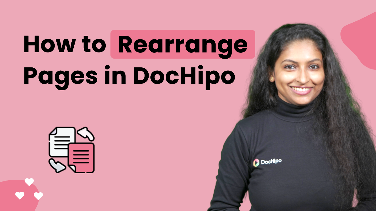 How to Rearrange Pages in DocHipo